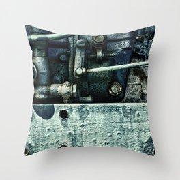Engine Block Inner Workings Throw Pillow