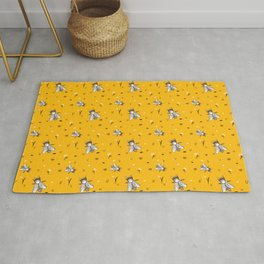 Save The Bees - Yellow Pattern Rug