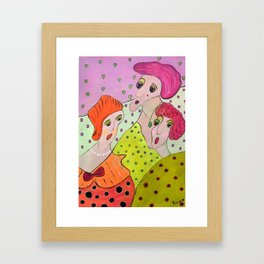 Here Come The Girls Framed Art Print