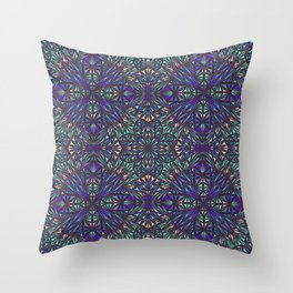 Kaleidoscope ice shards Throw Pillow