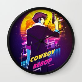 cowboy bebop retro Wall Clock