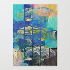 Fish Under Strong Radiation 4 Canvas Print