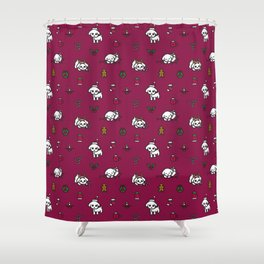Poodle Christmas Pattern Shower Curtain