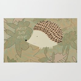 Hedgehog Best Day Ever Rug