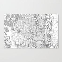 Vintage Map of San Antonio Texas (1953) BW Canvas Print