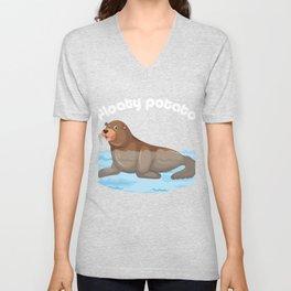 Manatees Aquatic Marine Mammals Herbivore Gift Floaty Potato Funny Animal  Unisex V-Neck