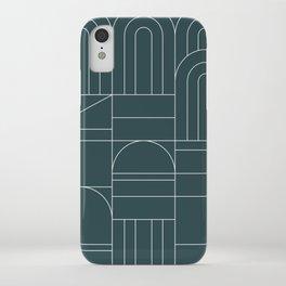 Deco Geometric 04 Teal iPhone Case