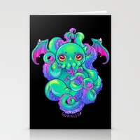 cthulhu Stationery Cards featuring Cthulhu by Gunkiss