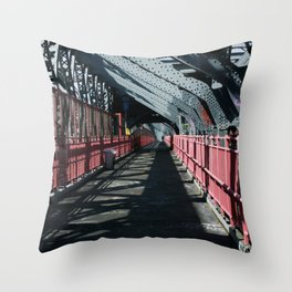 Williamsburg Bridge Throw Pillow
