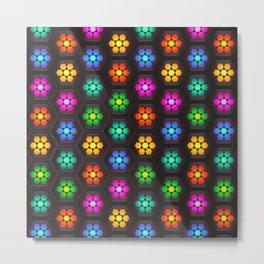 Multicolored Floral Pattern Lights Metal Print