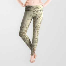 American Revolutionary War Map (1782) Leggings