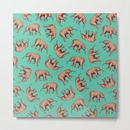 Elephant Ocean Metal Print