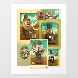Circus-Circus: The Whole Gang Art Print
