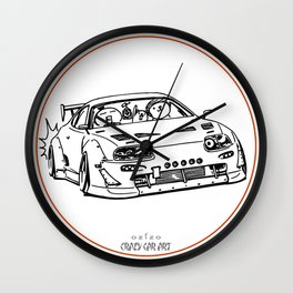 Crazy Car Art 0013 Wall Clock