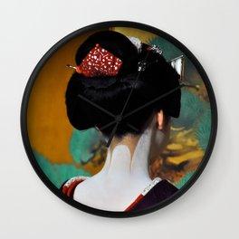 Geisha Maiko II Wall Clock