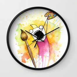 Meme Painting Wall Clock