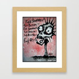 Fuck Off Framed Art Print