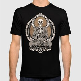 Starving Buddha - Wood Grain T-shirt