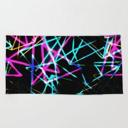 Neon lights Beach Towel