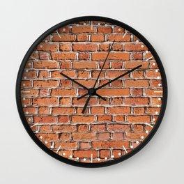 Red bricks wall texture Wall Clock