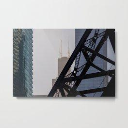Steel and Glass Metal Print