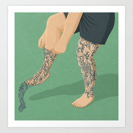 Tattoos Art Print