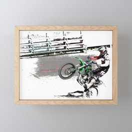Making a Stand - Freestyle Motocross Rider Framed Mini Art Print