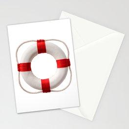 White-red lifebuoy, isolated on white background Stationery Cards