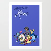 allison argent Art Prints featuring PokeWolf: Allison Argent by Trickwolves