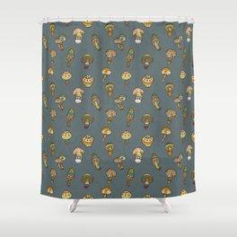 Hallucinogenic mushrooms Shower Curtain