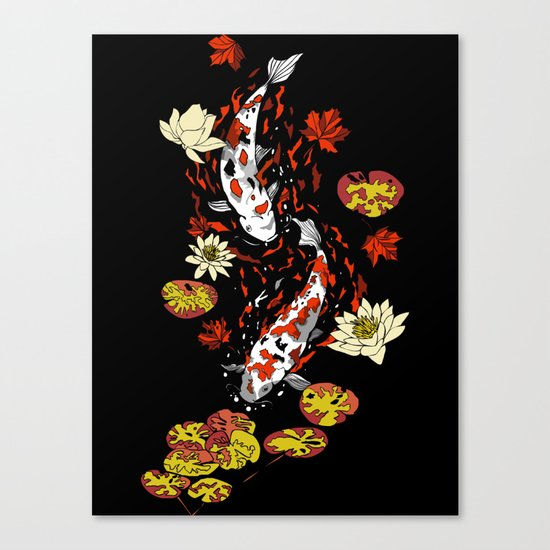 FALLING FISHES Canvas Print