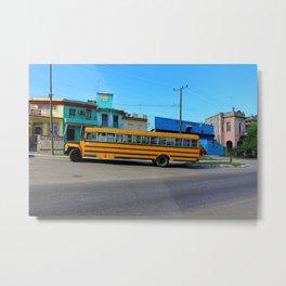 Havana, Cuba School Bus Metal Print