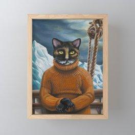 Arctic Explorer: Ernest Shackleton Framed Mini Art Print