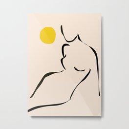 abstract minimal nude Metal Print