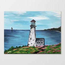 Lighthouse Cove Canvas Print