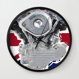 Union Jack Knuckle Wall Clock