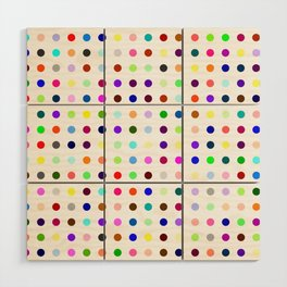 Big Hirst Polka Dot Wood Wall Art