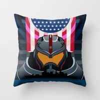 pacific rim Throw Pillows featuring Pacific Rim v2 by milanova