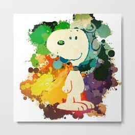 Snoopy Skecth Metal Print