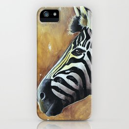 Zebra - Alfred the Traveler - by LiliFlore iPhone Case