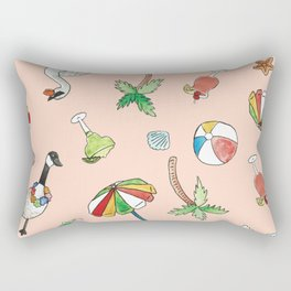 Tropical Goose Paradise Rectangular Pillow
