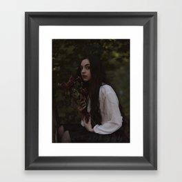 Kiss'd by thy Funeral Rose Framed Art Print