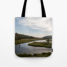 Yellowstone Fly Fishing Tote Bag