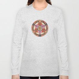 Pyramid Mandala Long Sleeve T-shirt