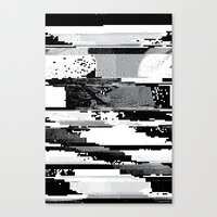 glitch Canvas Prints featuring Glitch by poindexterity