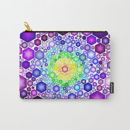 HEXAGONS CHAKRA COLORS Carry-All Pouch