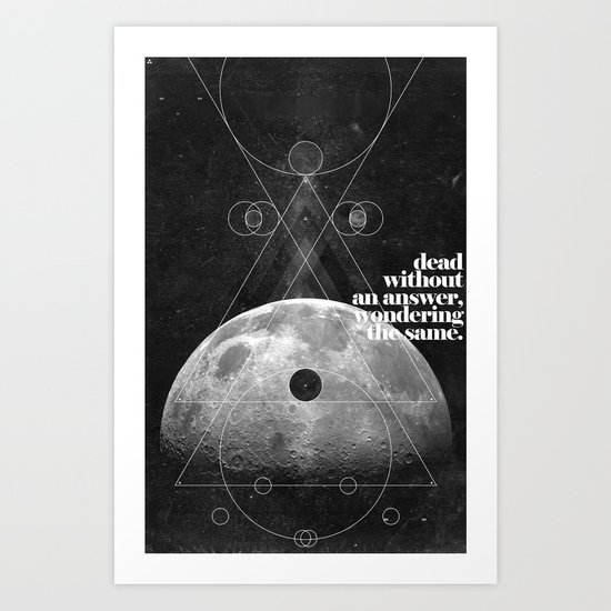 Answer Art Print