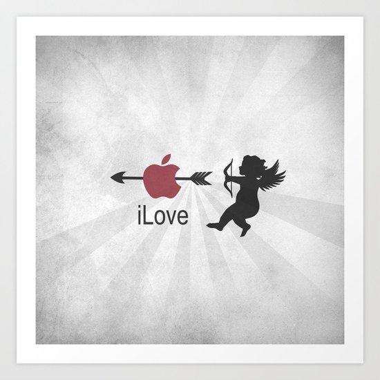 iLove Art Print