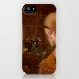Christmas Blessings - Christmas art by Giada Rossi iPhone Case