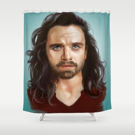 bucky with the good hair Shower Curtain